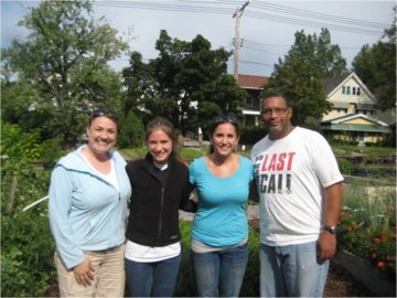 Case for Community Day, 2011: Dr. Jessica Kelley-Moore, Rachel Paul, Kelly Melvin-Campbell, and Tim Goler pause for a picture.