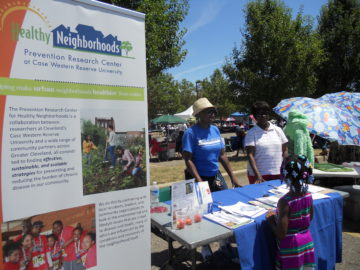Ward 5 Festival 2012: Central NWG members Gail Gwin & Joy Johnson (also of BBC) talk to neighborhood residents during the