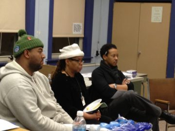 Buckeye Neighborhood Working Group: Julian, Toni, and Ali at a meeting in January.