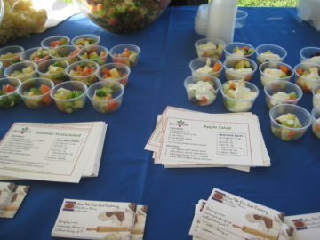'BBC Block Party, Summer 2011: FreshLink offered fresh samples with recipe cards at the party.